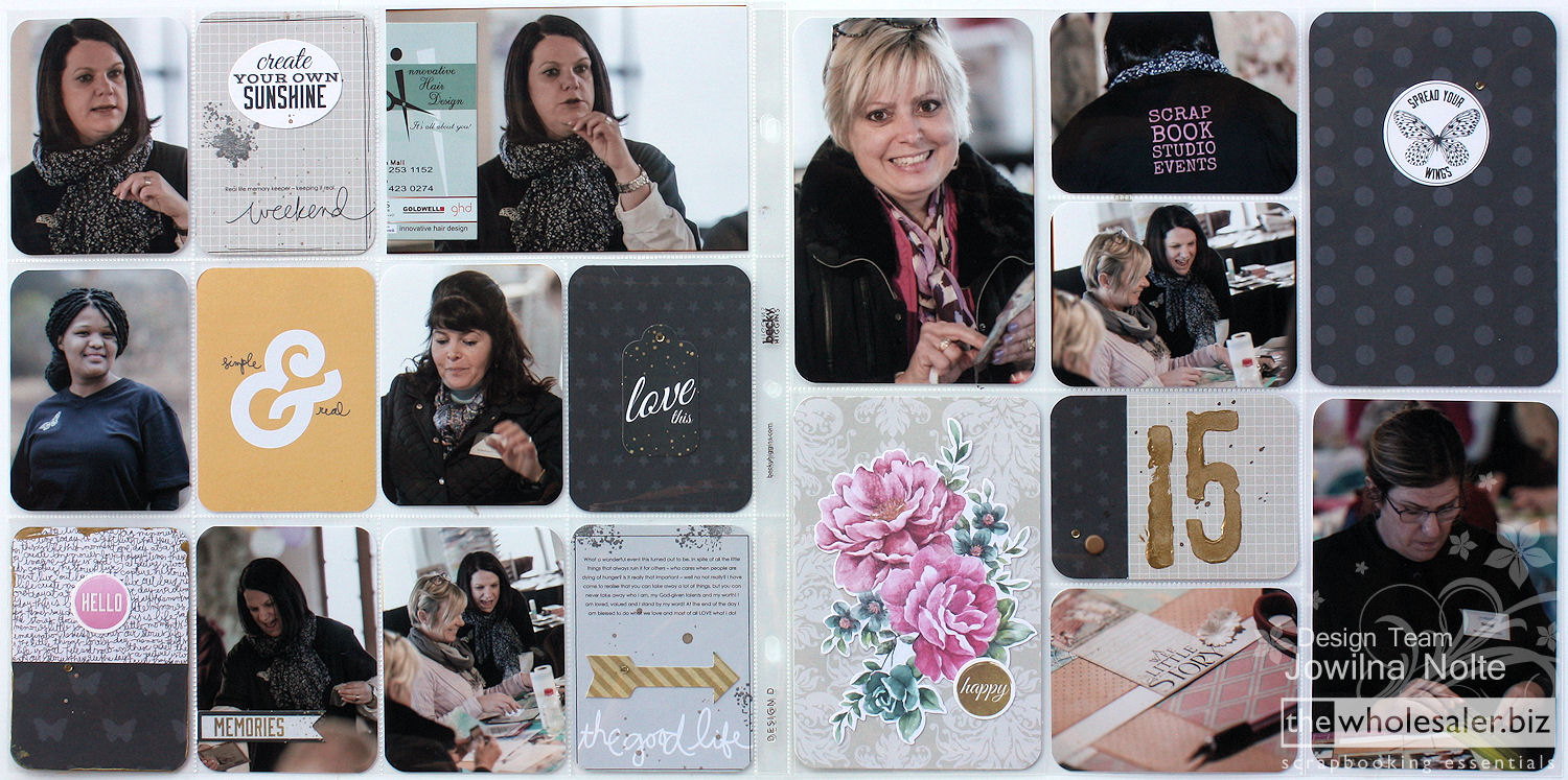 Project Life Pocket Style Scrapbooking With Lady Pattern Paper