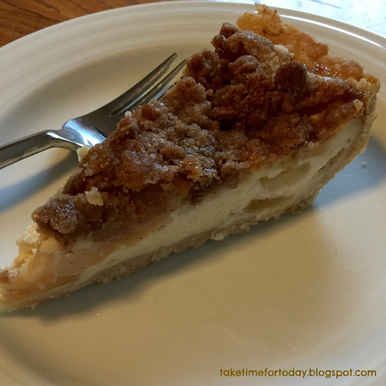 Take Time for Today: Sour Cream Apple Pie with Streusel ...