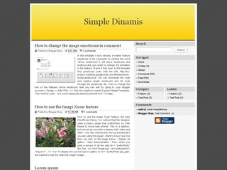 Simple Dinamis Blogger Template
