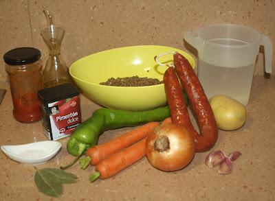 lentejas Alocados en la cocina