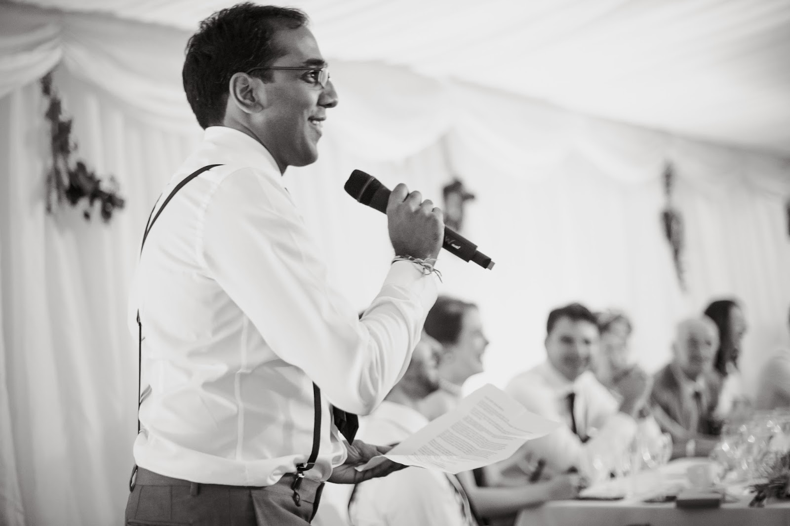 Best man speech at Quantock Lakes wedding