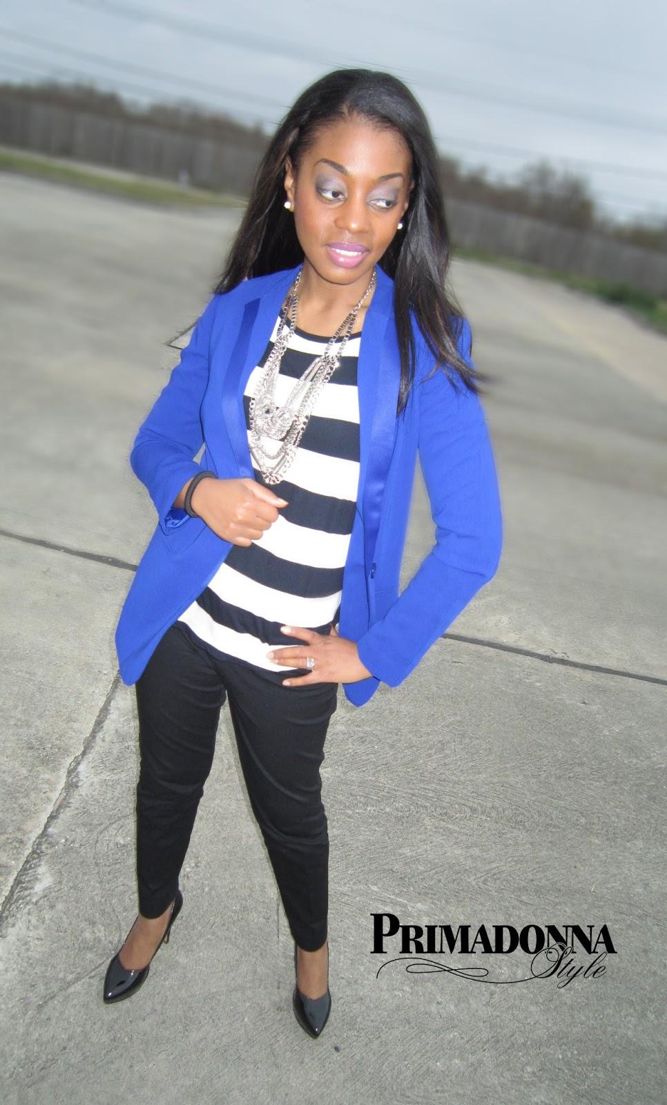 Primadonna Style: Work Week Chic: Royal Blue Blazer