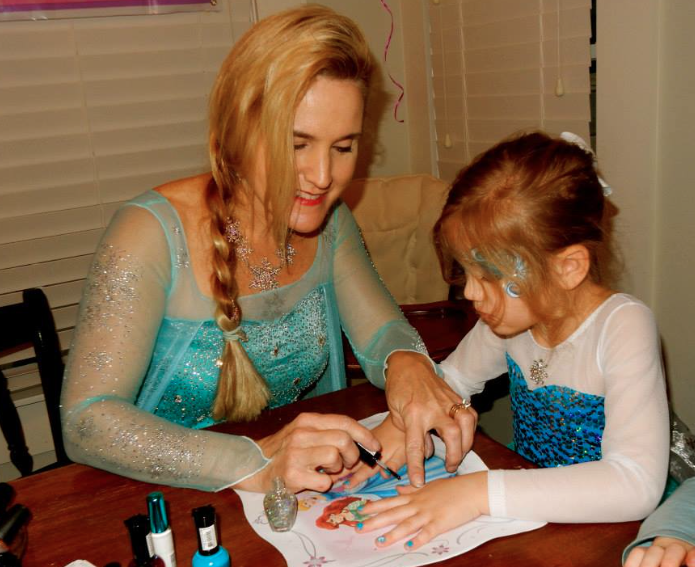 Elsa does Manicures & Face Painting