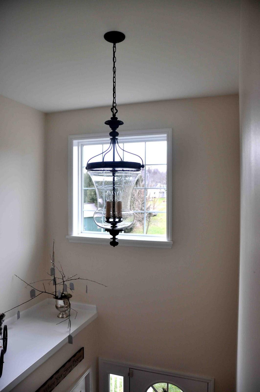 New Foyer Lighting : Something simple me new foyer light