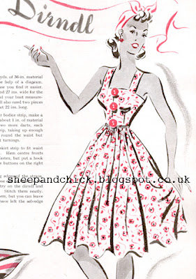 Free Patten 1930's Sewing - Very Easy Dirndl Dress