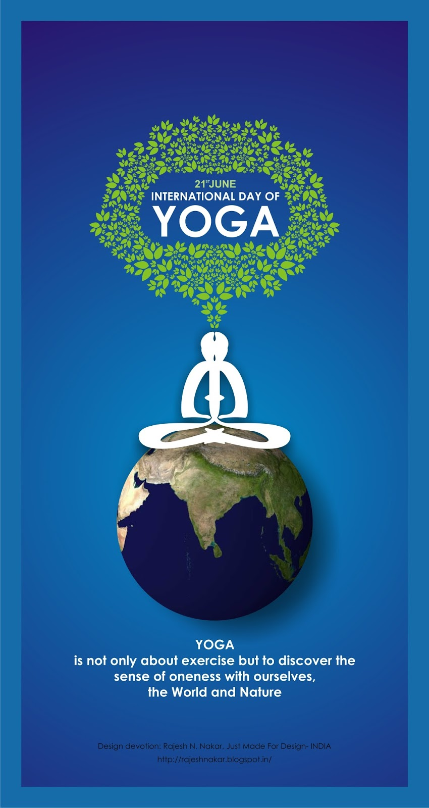 Poster design yoga - Royalty Free Image Poster On The Auspicious Occasion Of 21st June 2015 1st International Day Of Yoga This Design Devotion By Rajesh Nakar