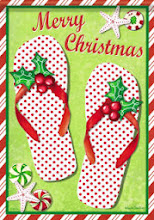 Holiday Flip Flops Flag