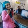 Fatin Lagi On Air di Radio Sonora 92 FM Jakarta
