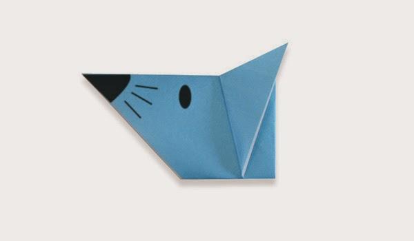 Hướng dẫn cách gấp Mặt con Chuột giấy - Xếp hình Origami với Video clip