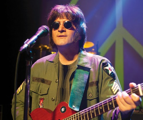 Steve Landes as John Lennon in Rain: A Tribute to The Beatles