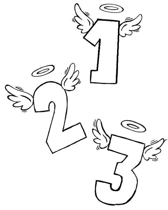 Baú da Web: Desenhos de Números para Colorir
