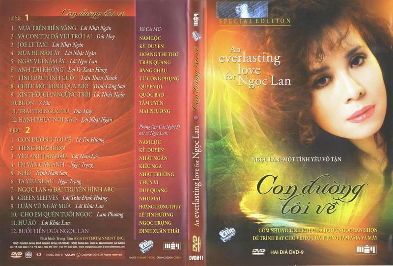 Con Đường Tôi Về ( Ngọc Lan Như Là Kỷ Niệm) 2 DVD9