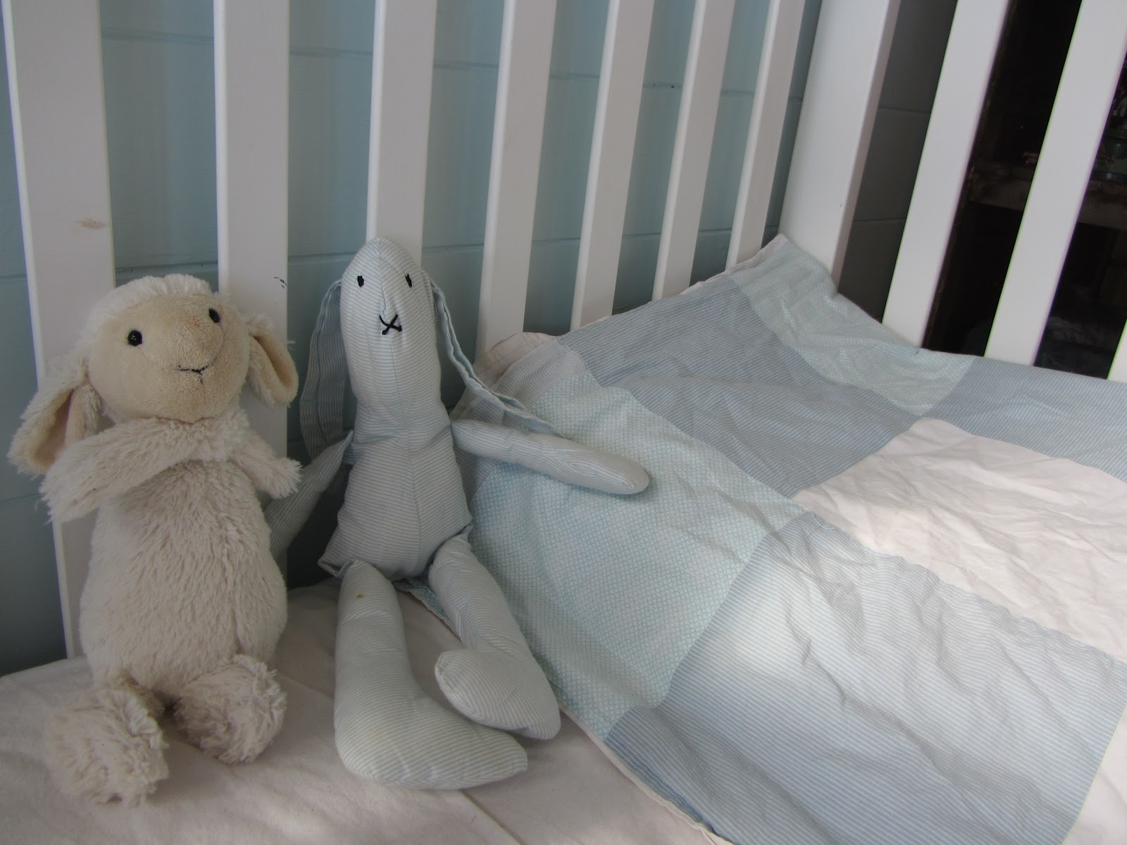 Thom haus handmade soft colours for a baby boy s bedroom for Dulux boys bedroom ideas