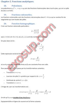 Fonctions de variables complexes cours et exercices corrigés
