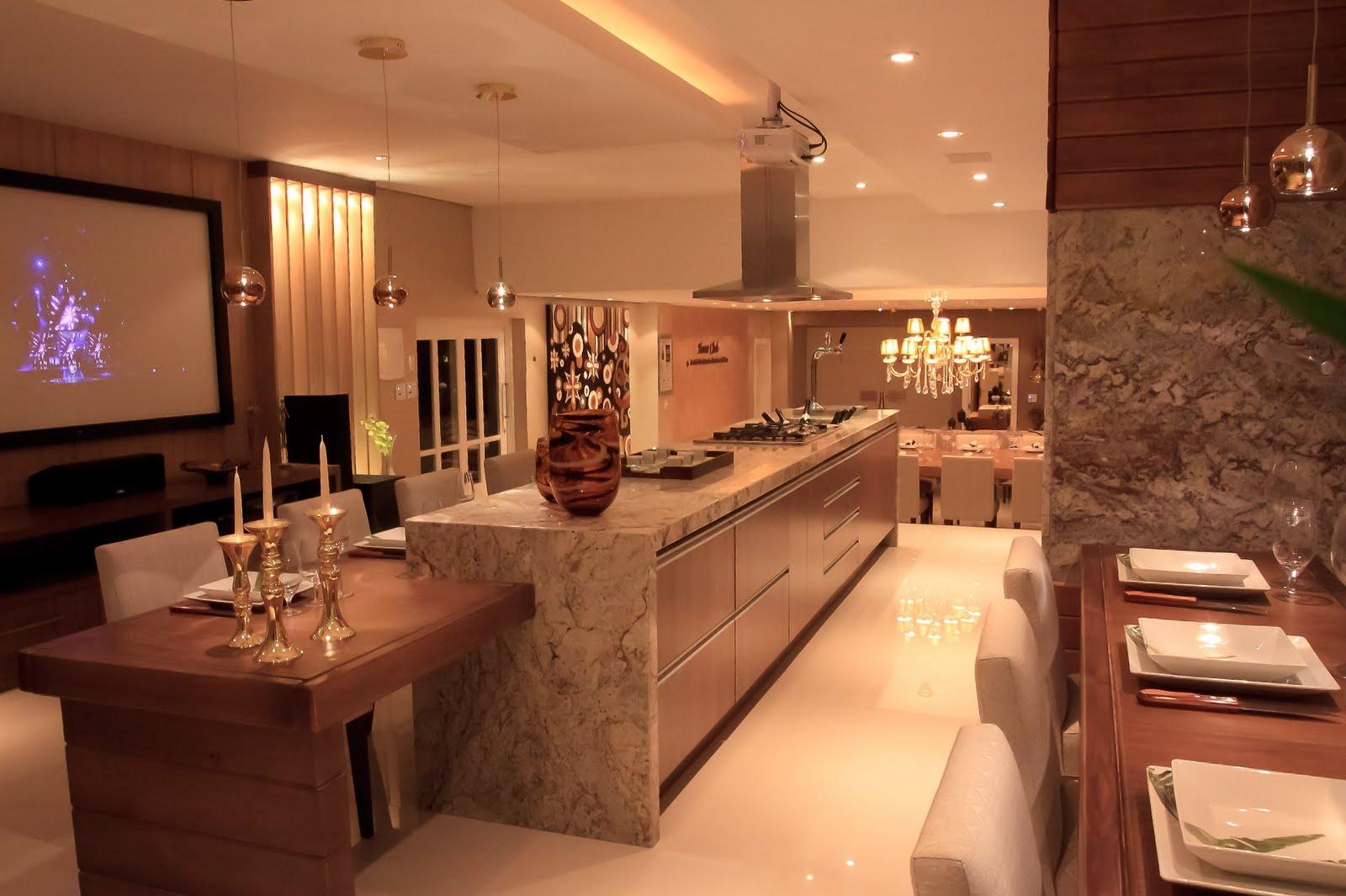 construir decorar: Espaço Gourmet #BC640F 1600x1066 Balcao Banheiro Fibra