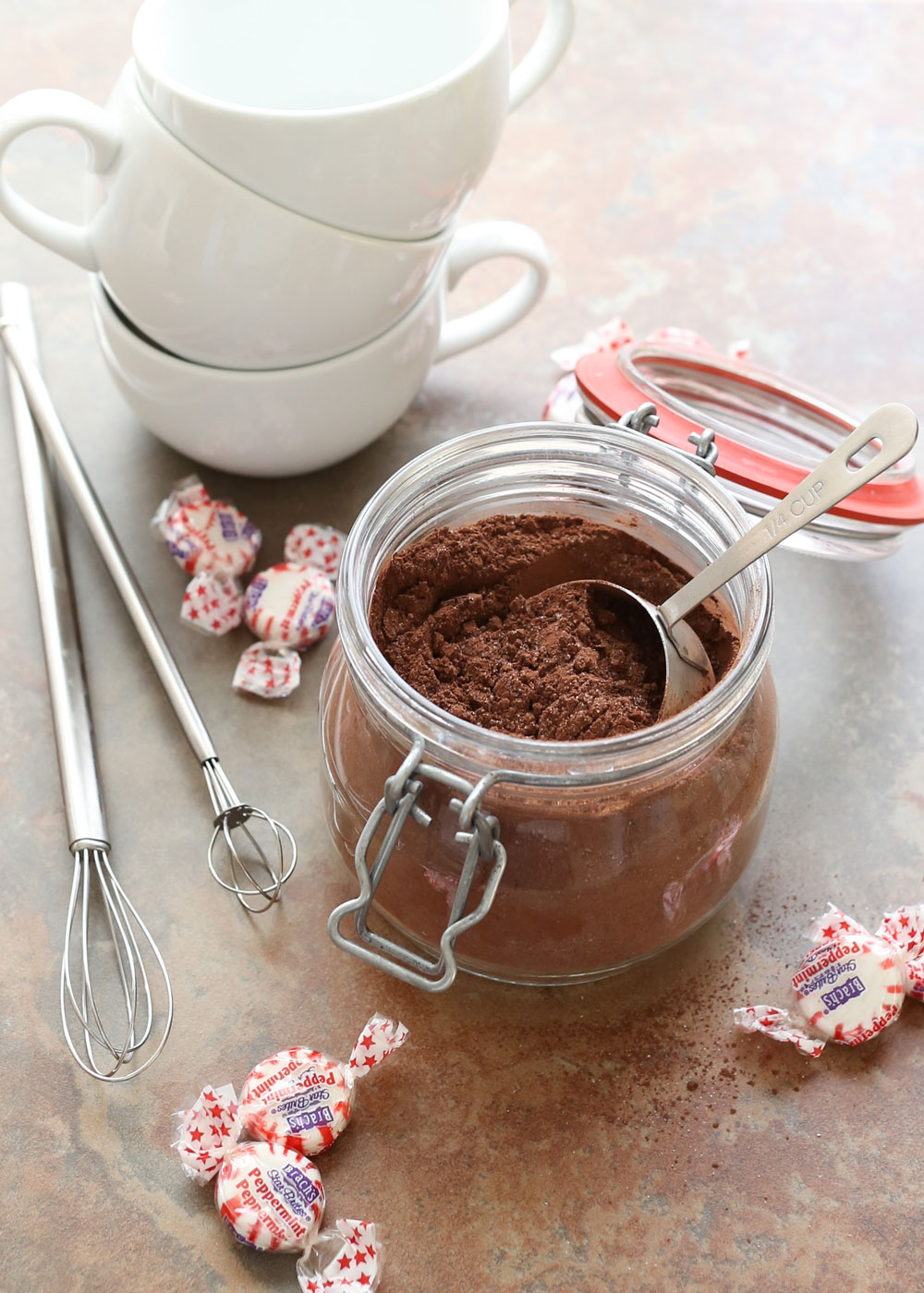 Homemade Peppermint Hot Chocolate Mix is perfect for gifts or any other occasion!