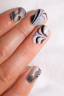 water marble nail polish chanel opi