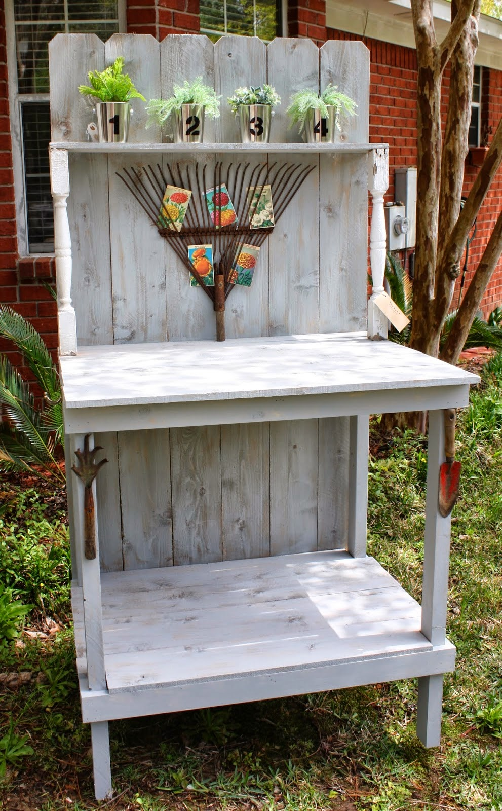 Coastal Charm Another Diy Potting Bench