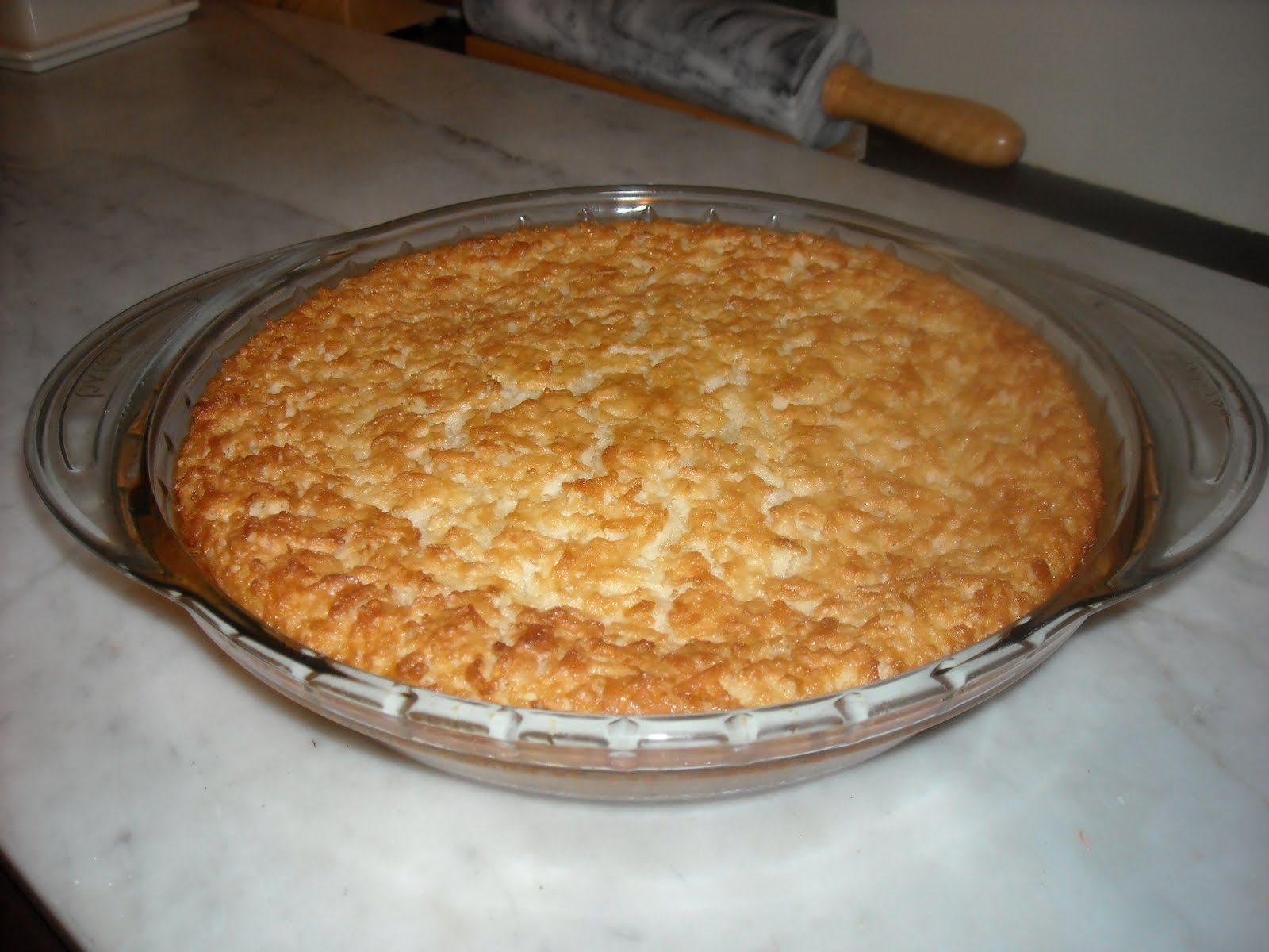"In the Kitchen with Kerry: Coconut Custard ""Pudding"" Pie"