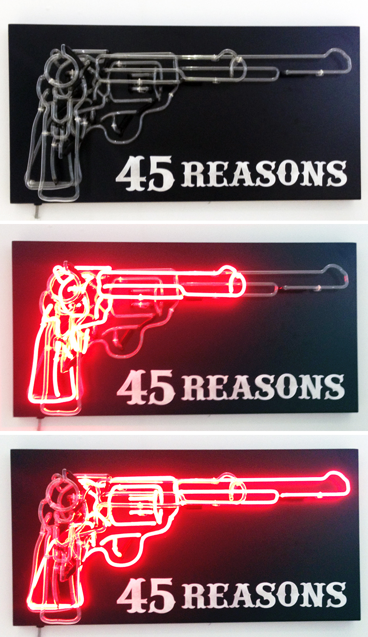 45 Reasons by Chris Bracey at Scope Art Show Miami Beach Art Basel 2014