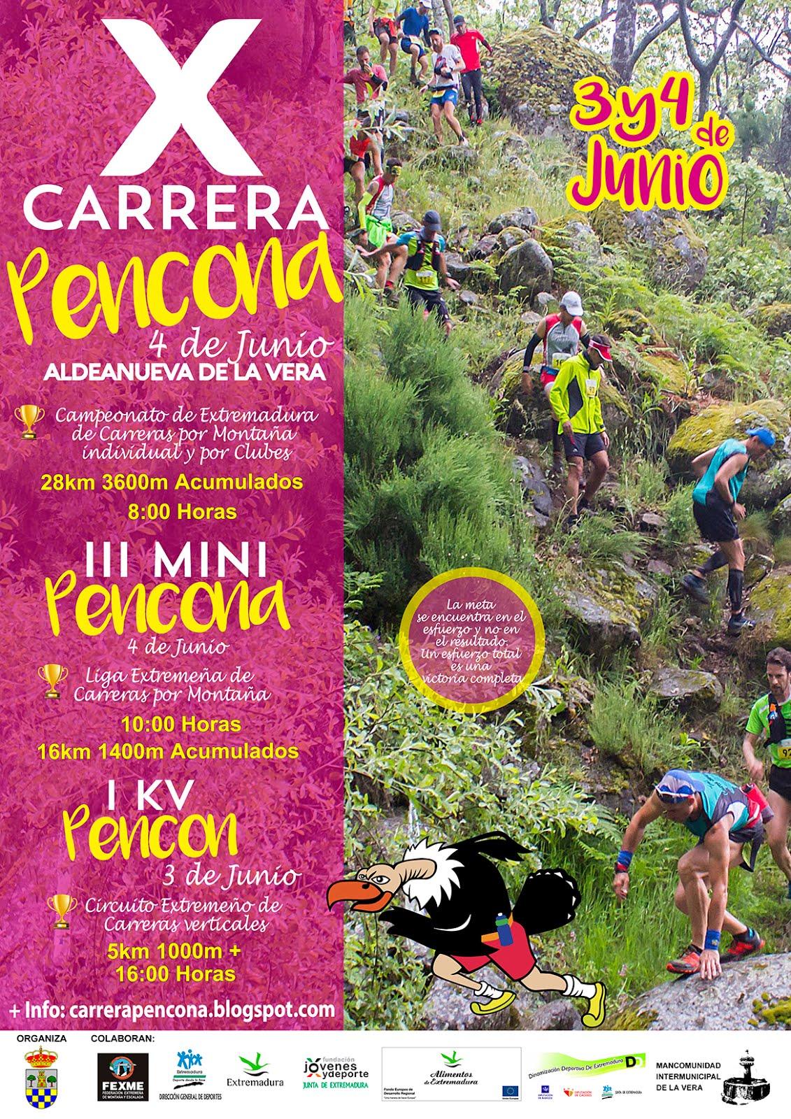 X CARRERA PENCONA Sábado 3 y Domingo 4 de Junio 2017