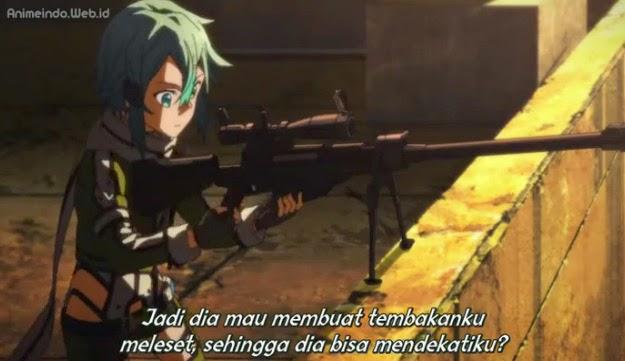 Sword Art Online II Episode 6 Pertarungan Sinon