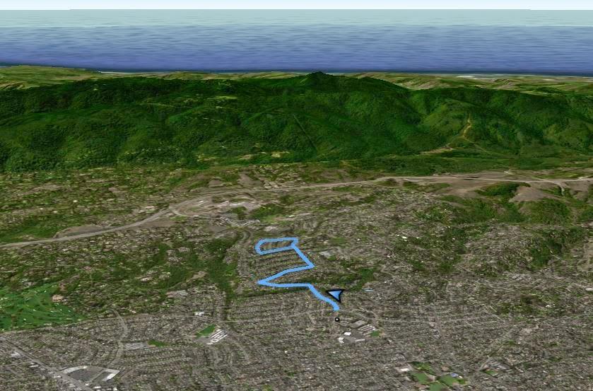 Ruta de caminata urbana en Redwood, CA