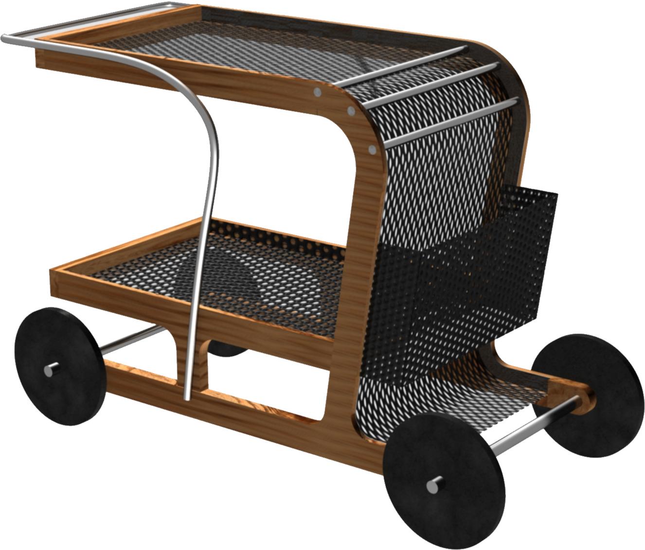Proyecto carrito de bebidas para jard n evoluci n portafolio dise o y renders - Carrito bebidas ...