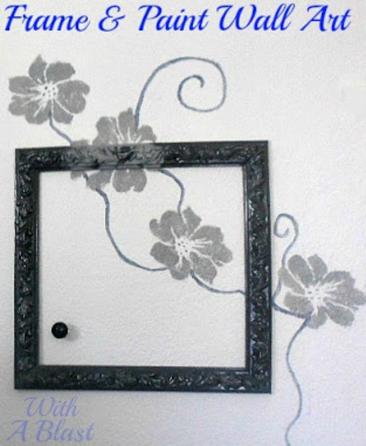 Easy Frame & Paint Wall Art ~ Step-by-step on how to make this easy Wall Art ~ with an even easier and quicker alternative ! #WallArt #Paint #FrameArt