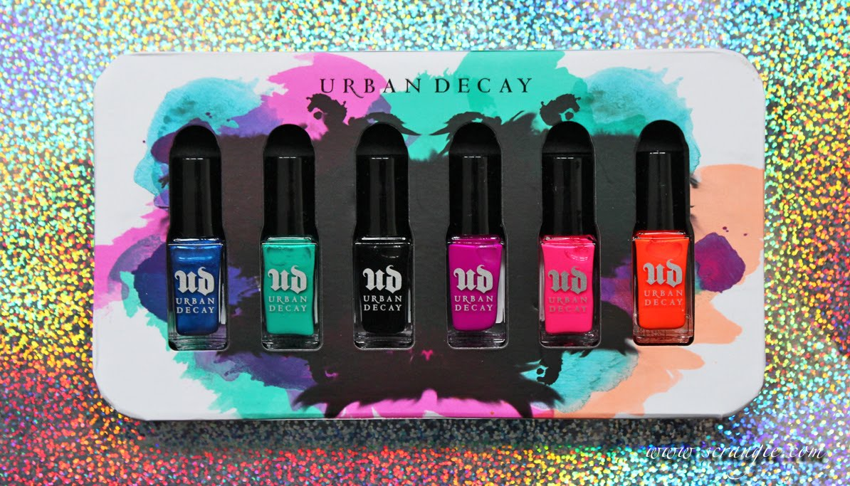 The Six Mini 5ml 0 16 Fl Oz Polishes Come Housed In Same Foam Tray As Previous Collections But With Bright Summery Artwork On Front And