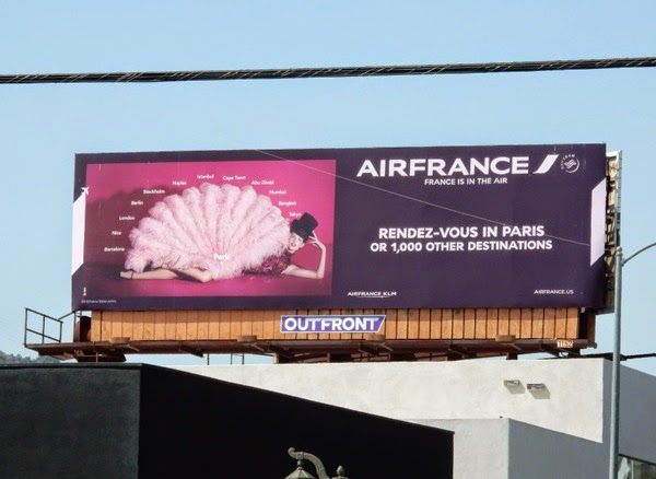 AirFrance Rendez-vous in Paris billboard