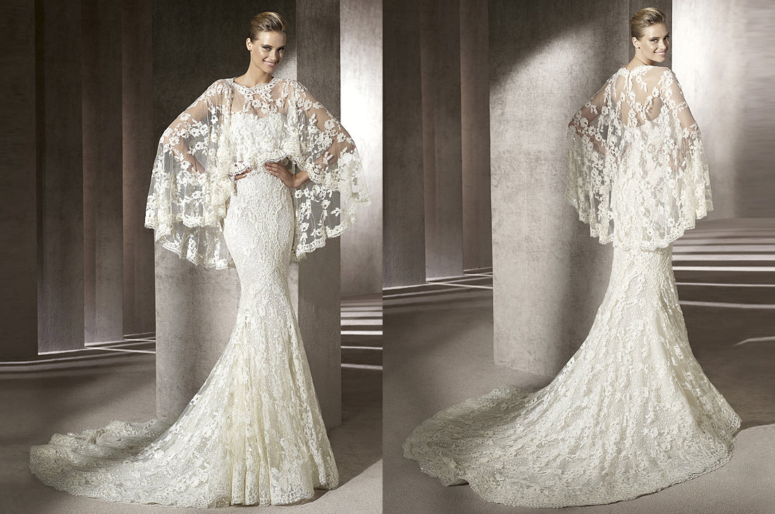 Amazing Lace Wedding Dress with Cape 1100 x 730 · 1353 kB · png