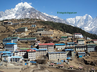 Namche Bazaar, on the way to Gokyo trekking