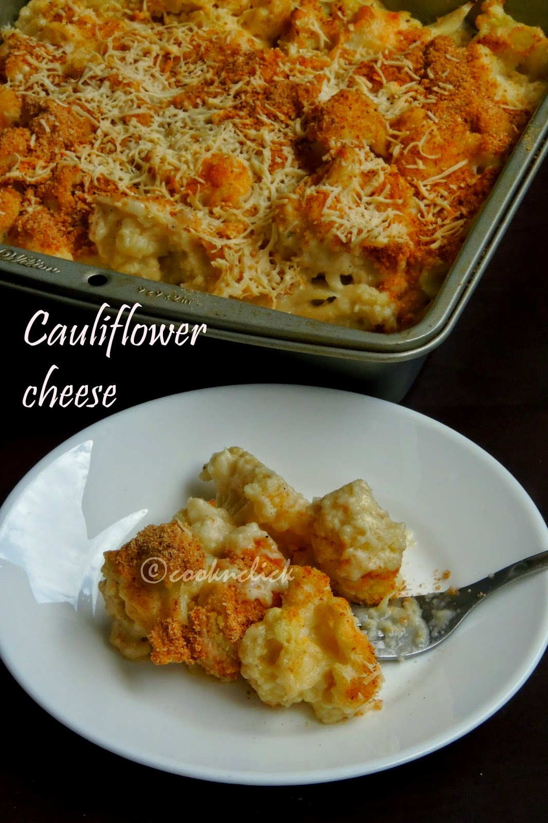 Cheesy cauliflower, cauliflower cheese