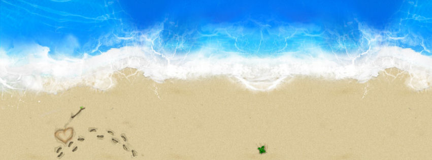 Love in beach facebook cover