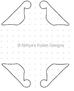 2 Parrot Kolam 16 by 8 dots