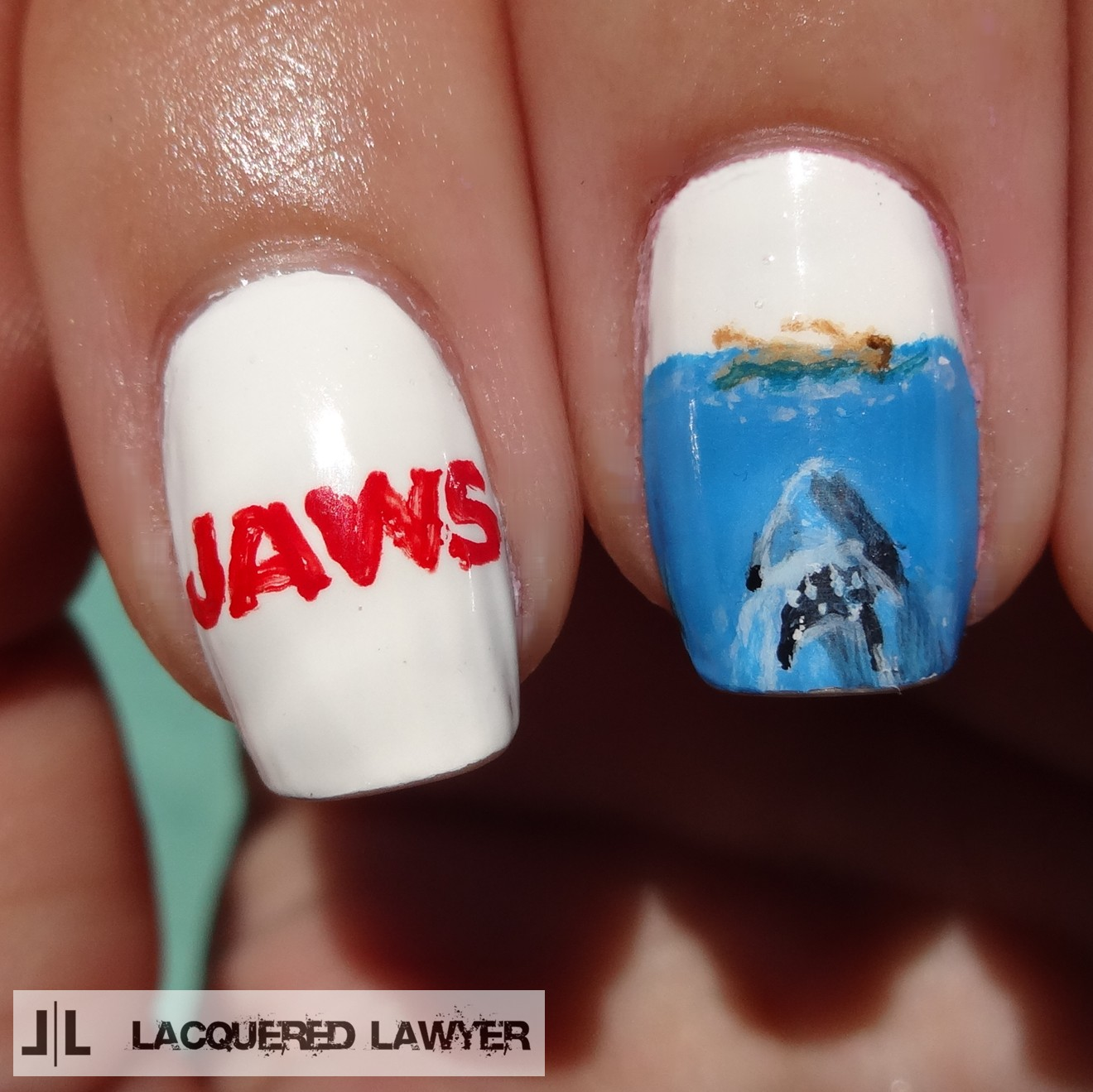 Lacquered Lawyer Nail Art Blog Jaws