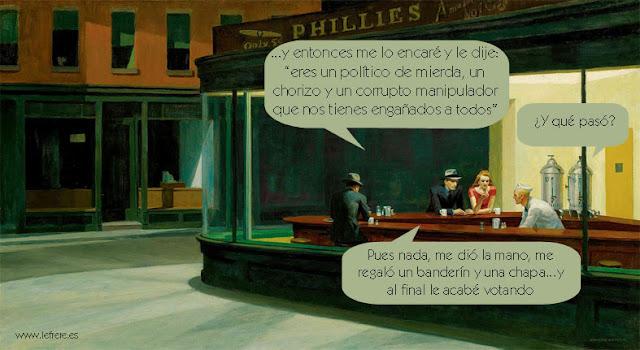 Hopper, elecciones, le frère