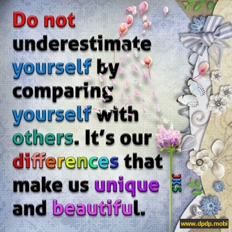 Gambar Tampilan di Bbm Blackberry_do not underestimate yourself by comparing