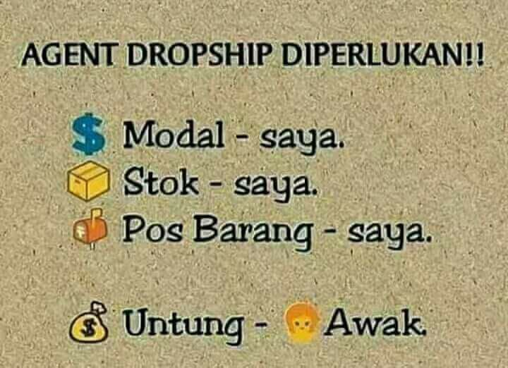 AGENT DROPSHIP DIPERLUKAN