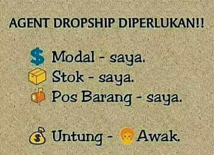 AGENT DROPSHIP DIPERLUKAN