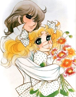Dibujo de Terry abrazando a Candy