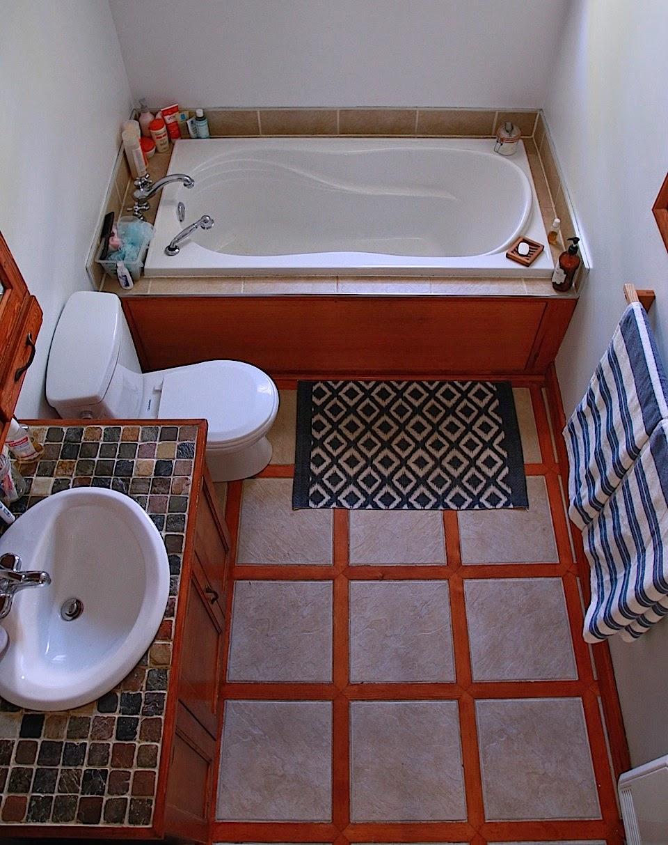 La porte rouge salle de bain - Je decore salle de bain ...