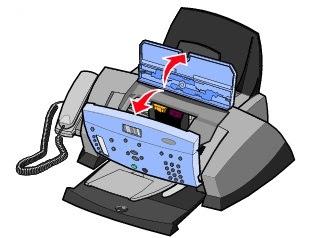 Открыть крышки принтера