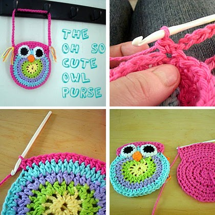 Crochet Owl Bag Pattern Free : Crochet For Children: Free Crochet Owl Purse Pattern