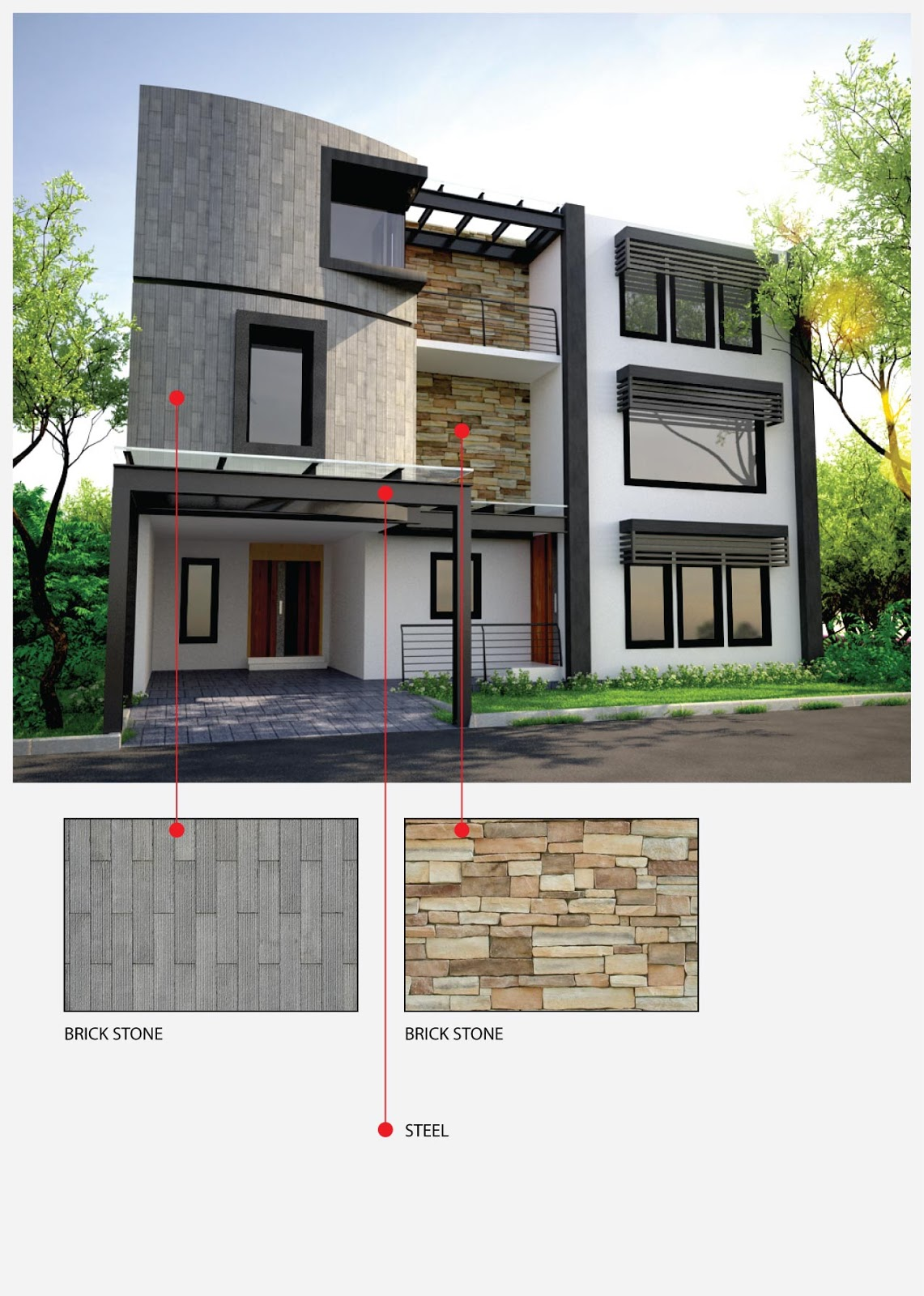 Front Elevation Materials : Home interior exterior design achitect designs