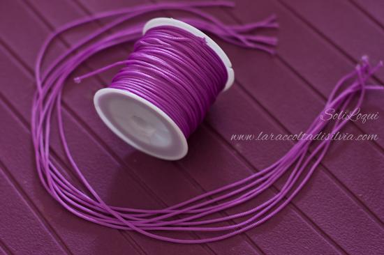 Filo di nylon per braccialetto kumihimo