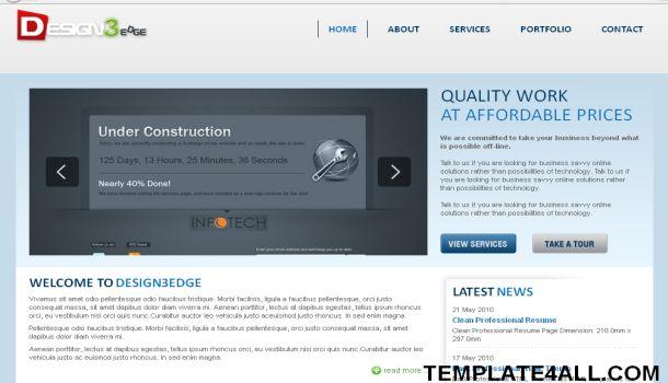 Elegant Business Portfolio Website Template