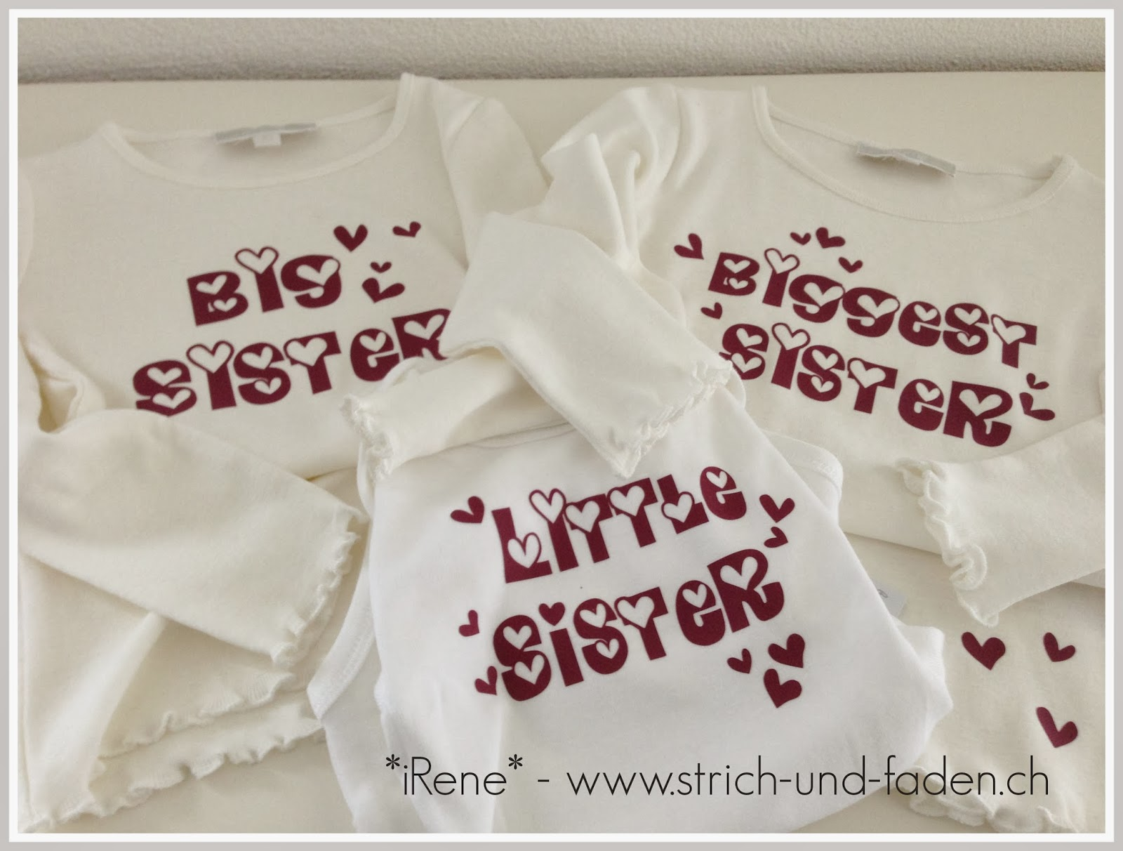 mit Strich und Faden | big sister little sister biggest sister plotter shirts