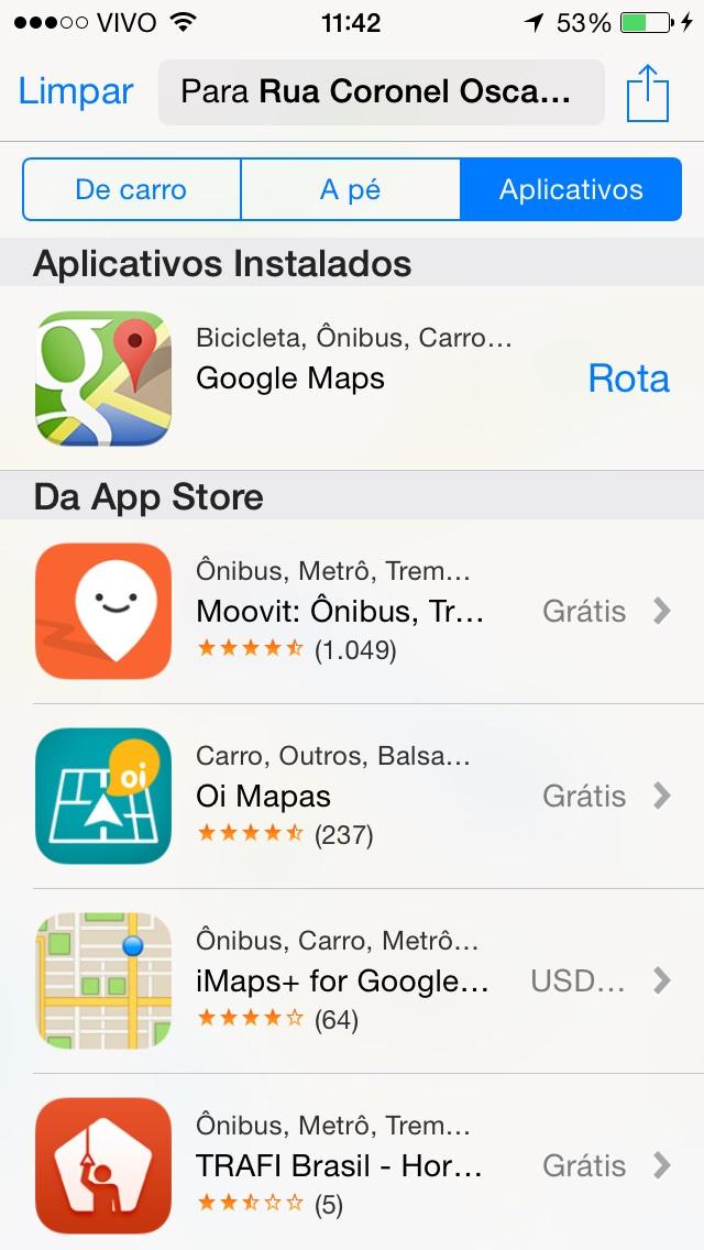Mapas iOS 8 beta 3